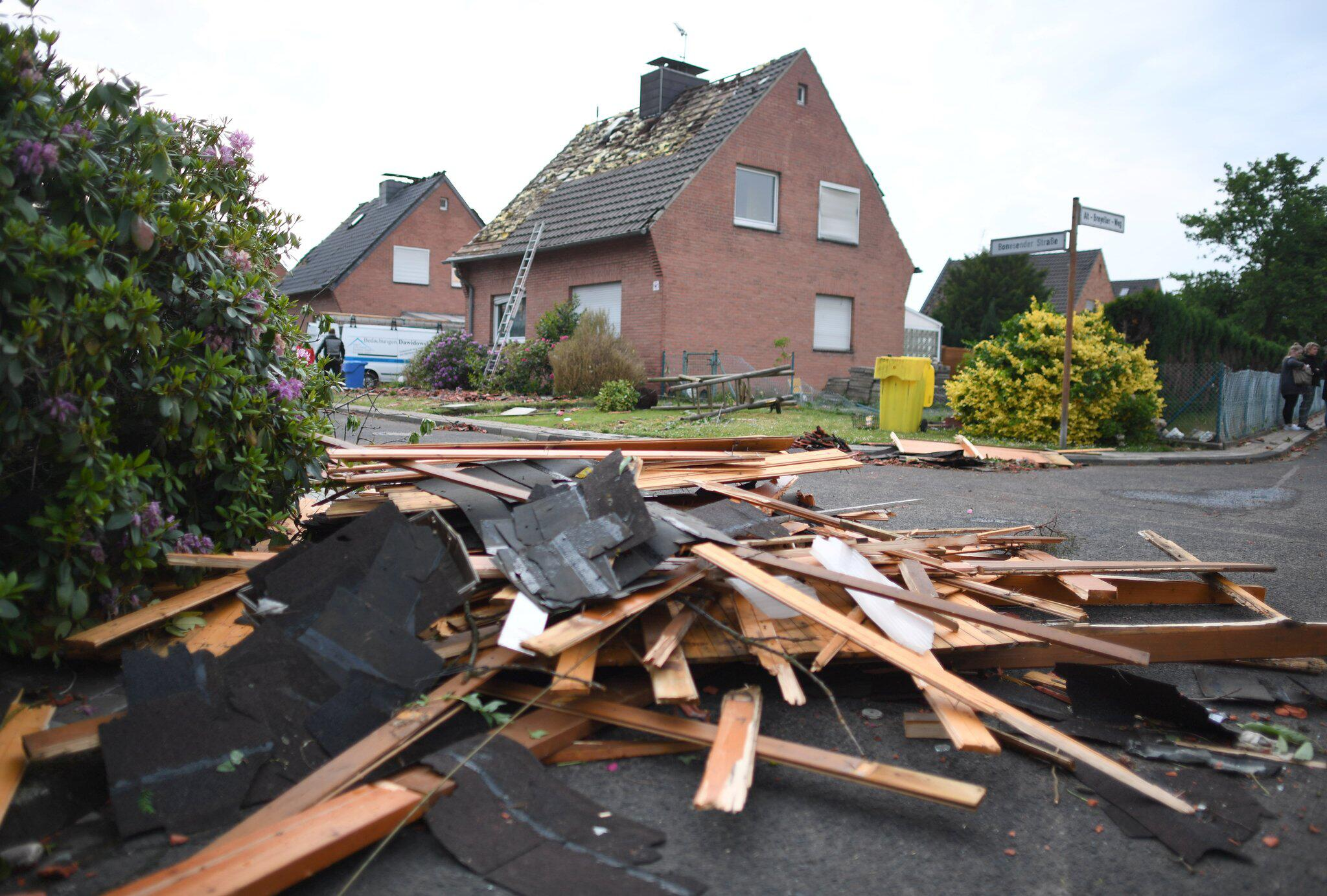 Bild zu Tornado in the lower Rhine region