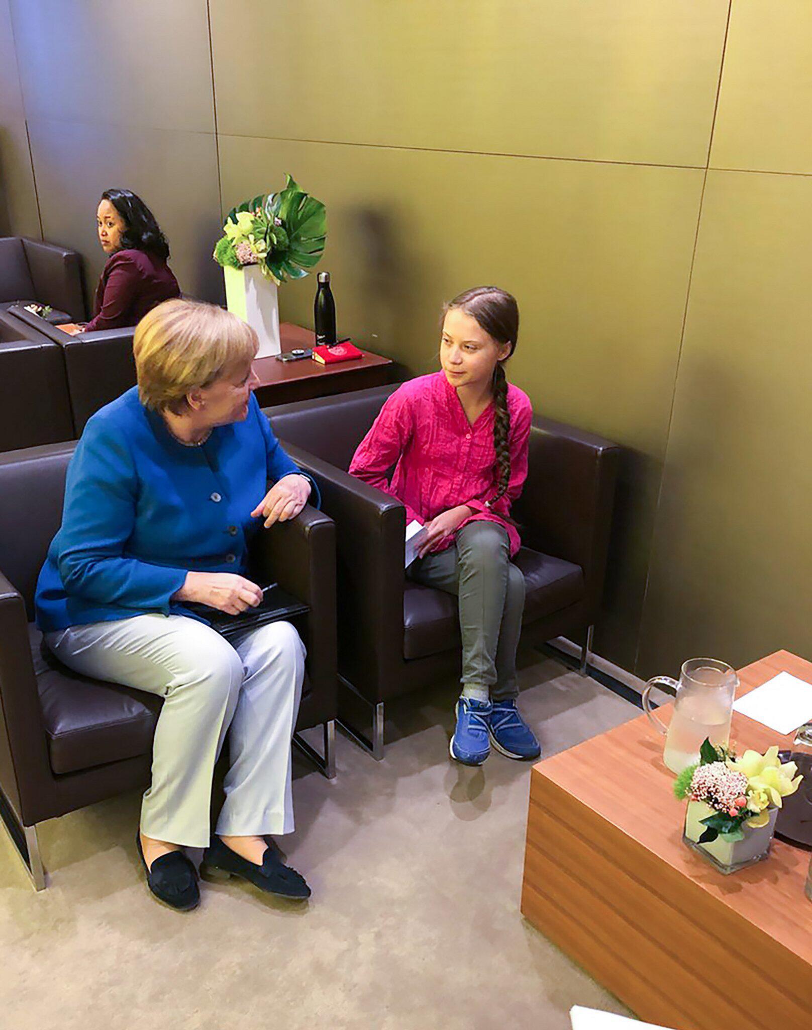 Bild zu Angela Merkel, Greta Thunberg