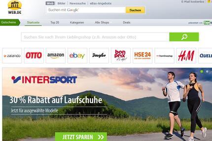 WEB.DE Gutschein-Portal