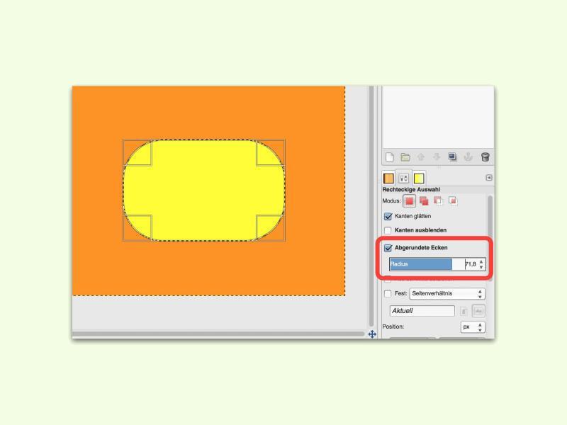 Bild zu Abgerundete Ecken in GIMP