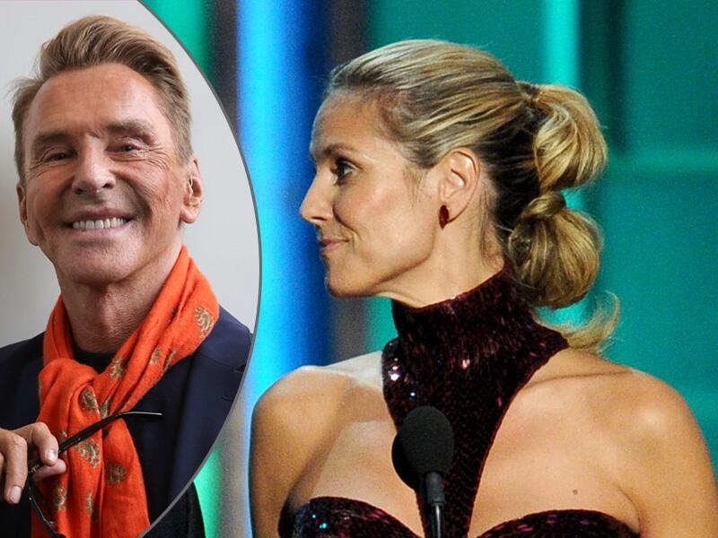 Bild zu Wolfgang Joop sitzt bei Heidi Klum in der Jury.