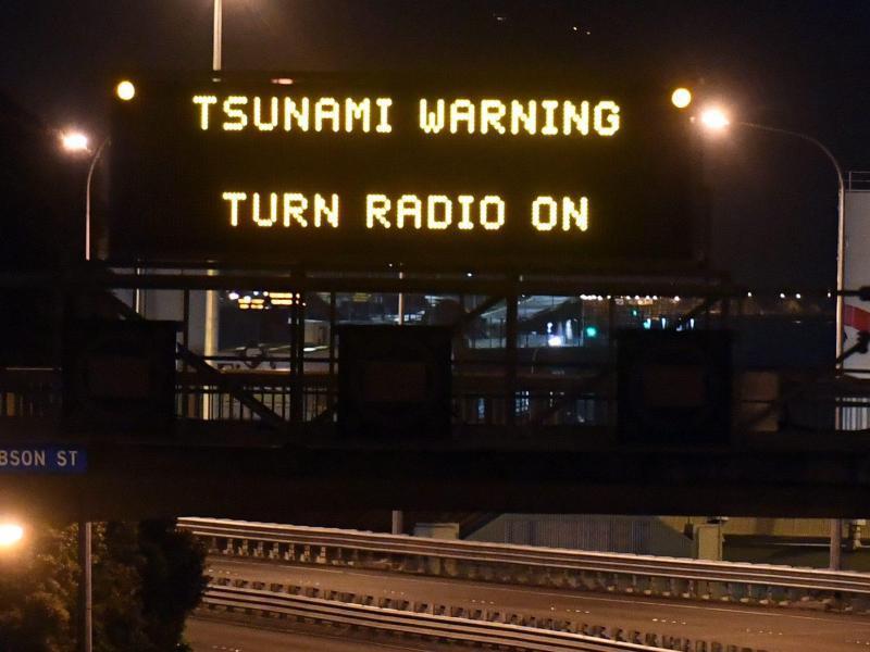 Bild zu Tsunami-Warnung