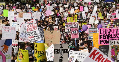 Frauenmarsch in Los Angeles