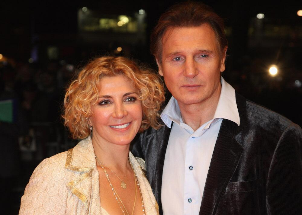 Bild zu Liam Neeson und Natasha Richardson 2008 in London