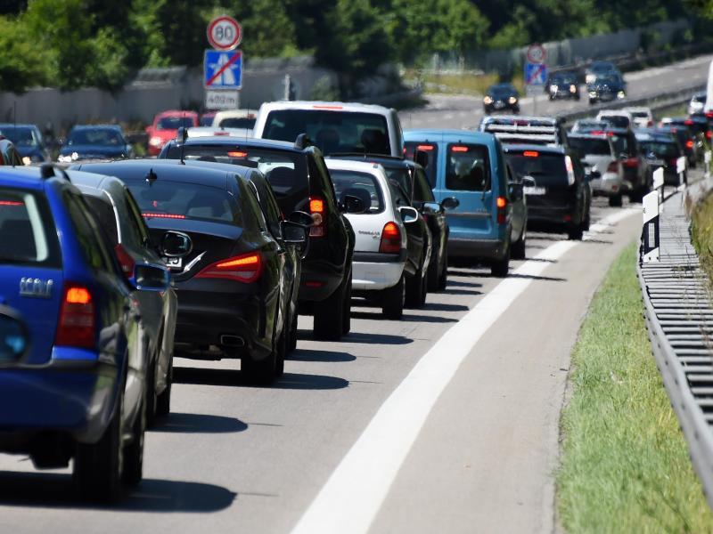 Bild zu Stau auf Bayerns Autobahnen
