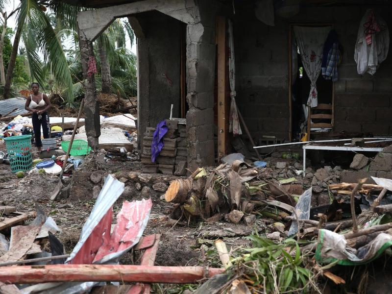 Bild zu Zerstörtes Haus auf Haiti
