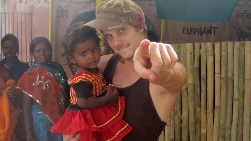 Michael Saatkamp mit Kind