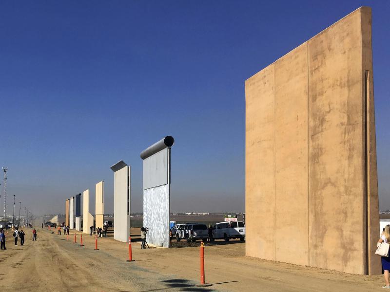 Bild zu Geplante Grenzmauer