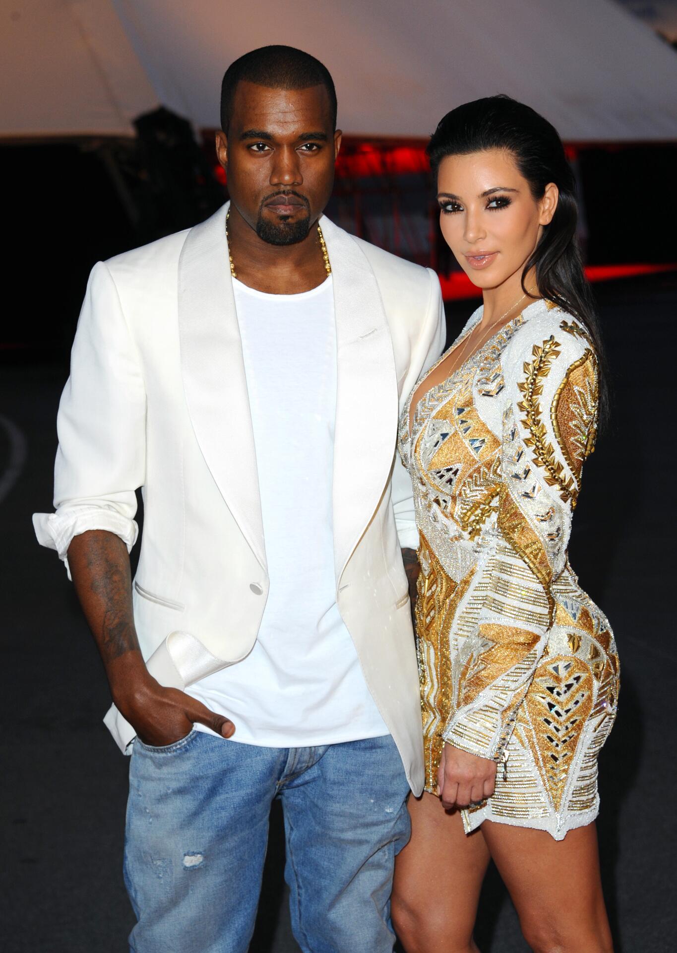 Bild zu Kanye West, Kim Kardashian