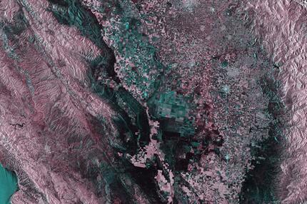 Satellitenbild, Kalifornien