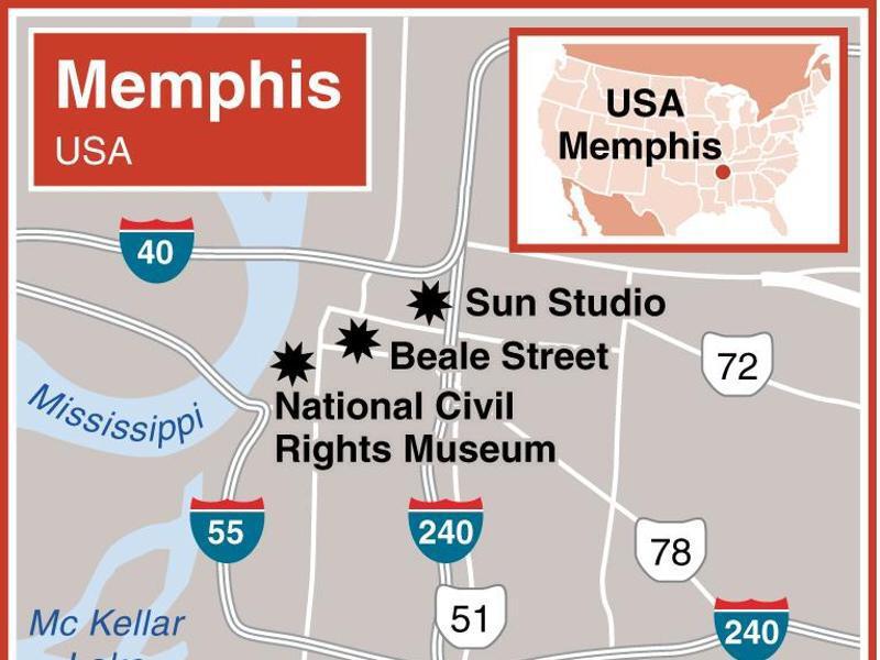 Bild zu Karte von Memphis