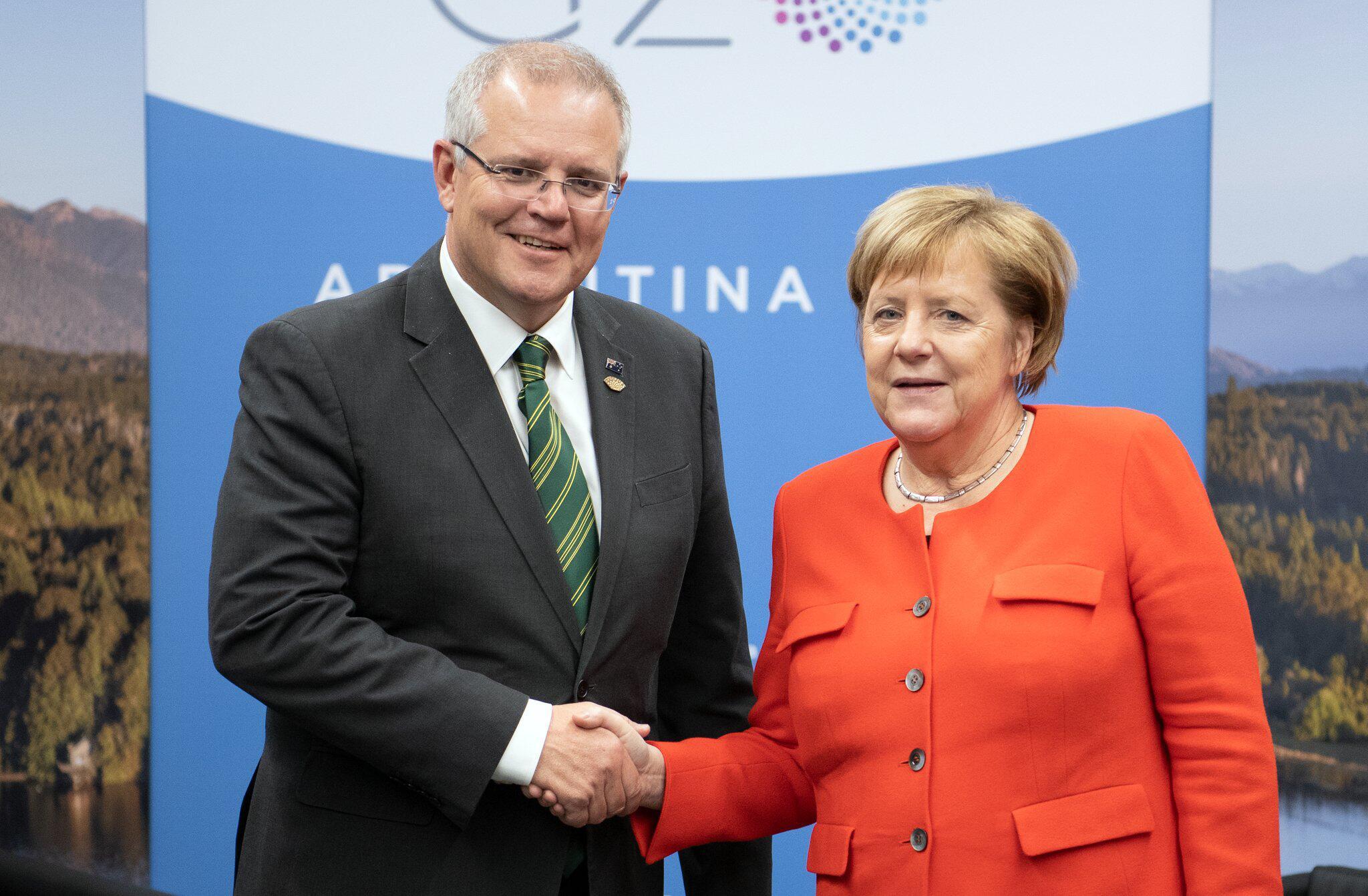 Bild zu Angela Merkel und Scott Morrison