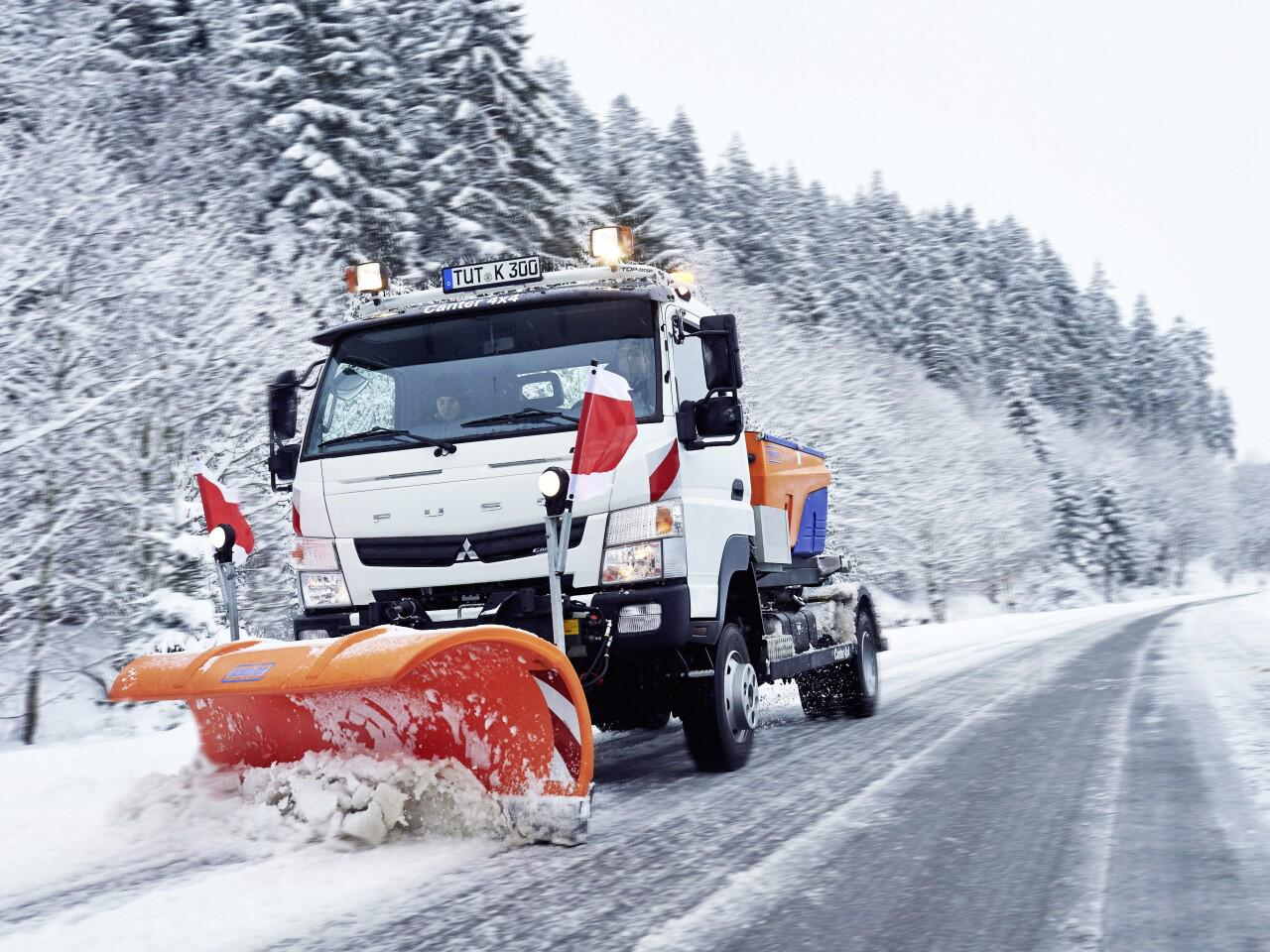 Bild zu Nebenstraßen im Winter: Vorsicht vor Schnee- und Eisglätte!
