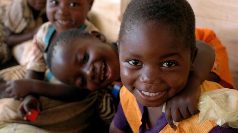 Lachende Kinder in Malawi