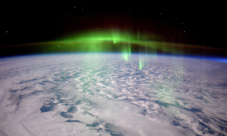 Bild zu aurora polarlichter iss