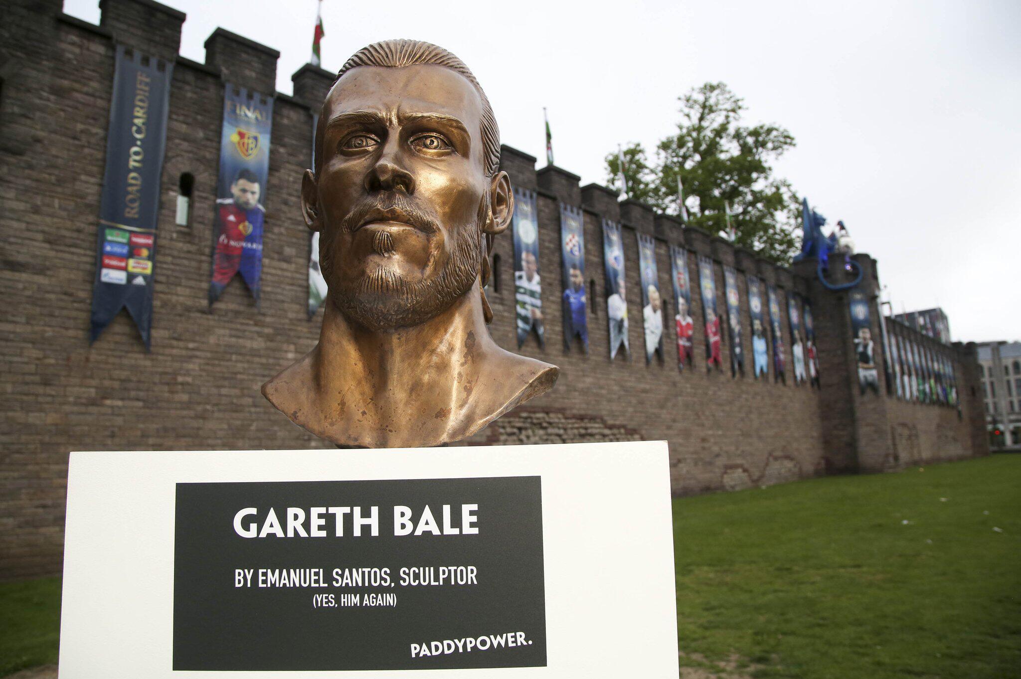 Bild zu Büste des Fußballspielers Gareth Bale