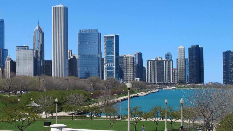 Wolkenkratzer am Michigansee