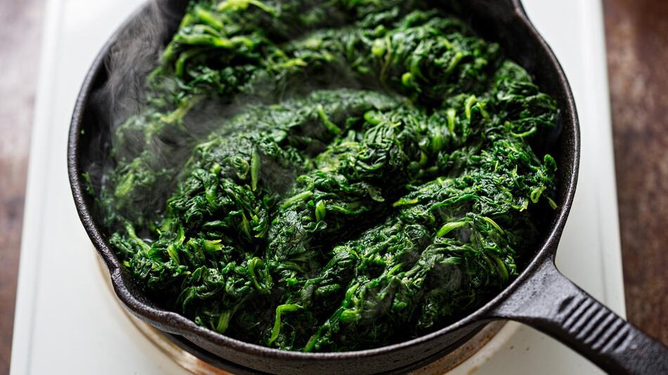 Spinat, aufwärmen