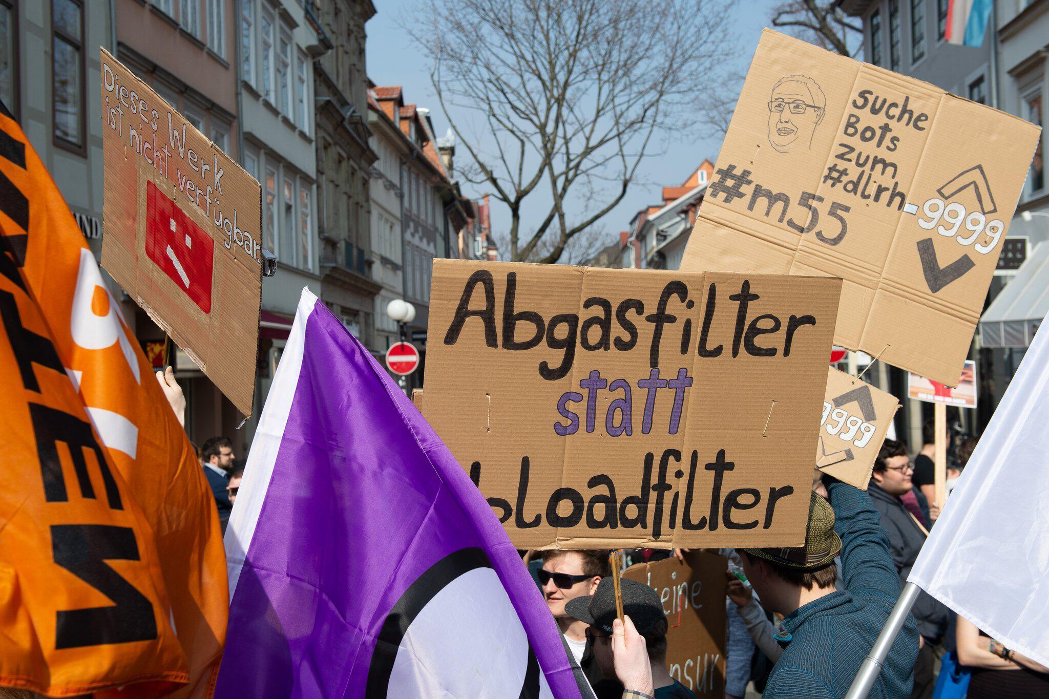 Bild zu Protest gegen neues Urheberrecht - Göttingen