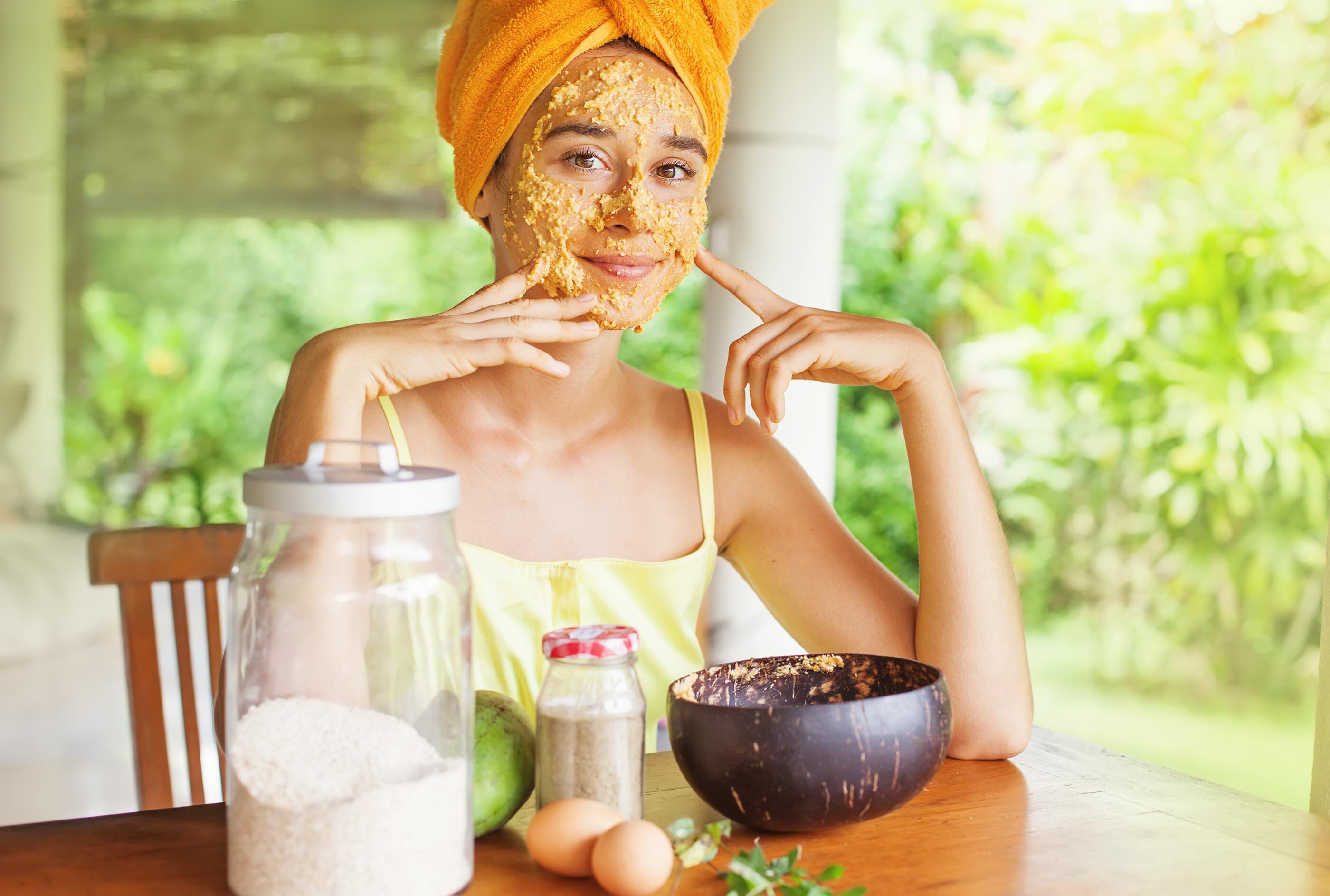 Bild zu Beauty, Maske, DIY, selbst, zuhause, nachhaltig, Pflege, Creme