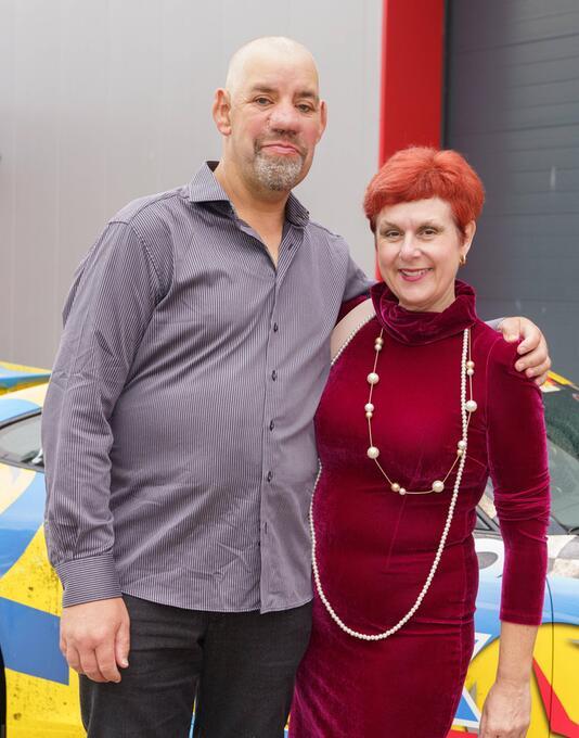 Uwe Abel mit Frau Iris