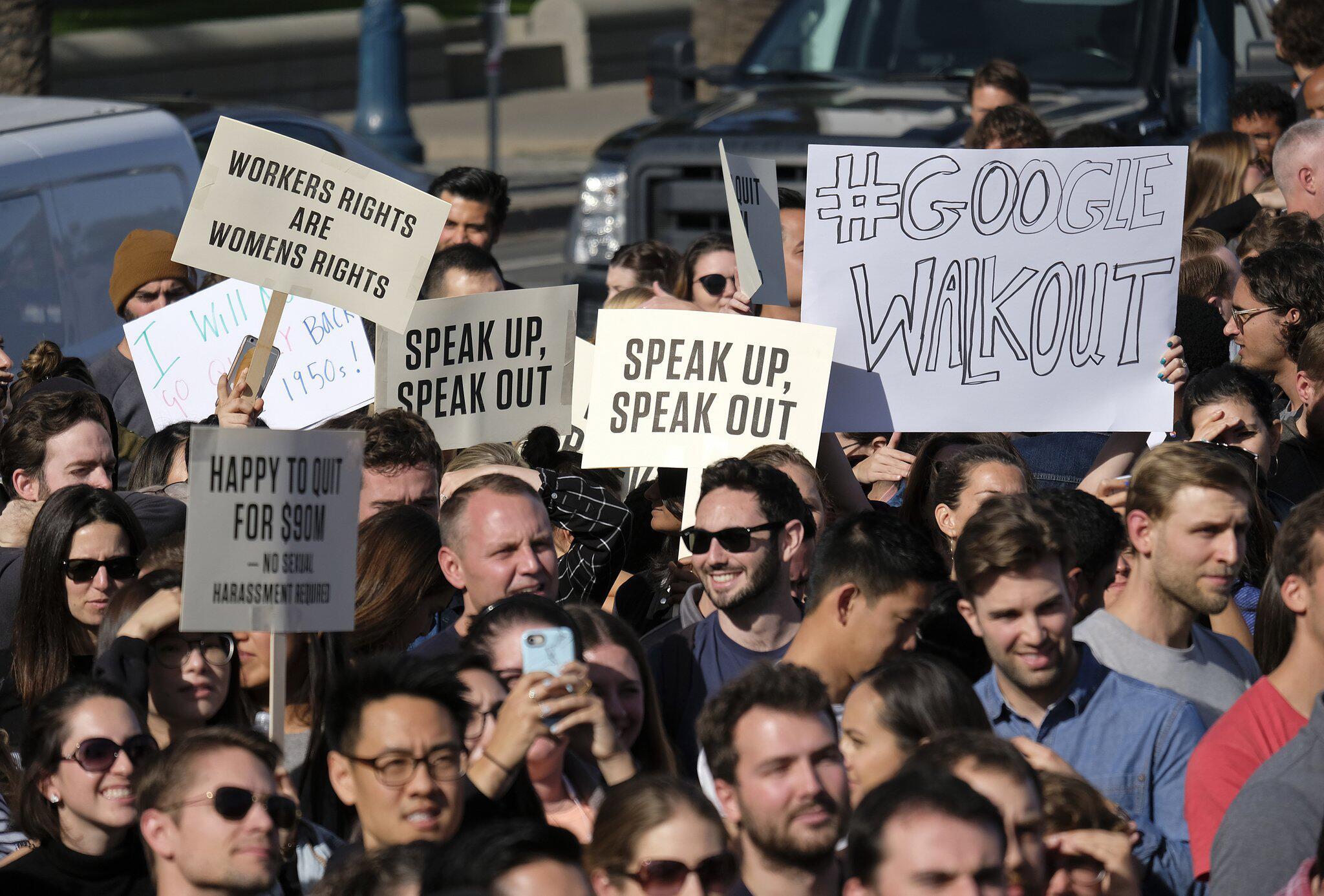 Bild zu Google-Mitarbeiter protestieren gegen Sexismus