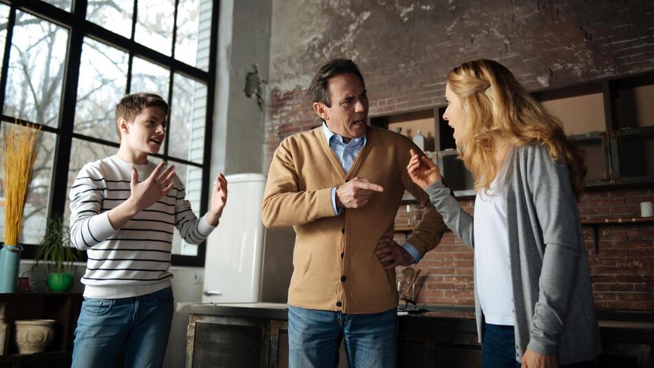 Streit zwischen Eltern und Kind