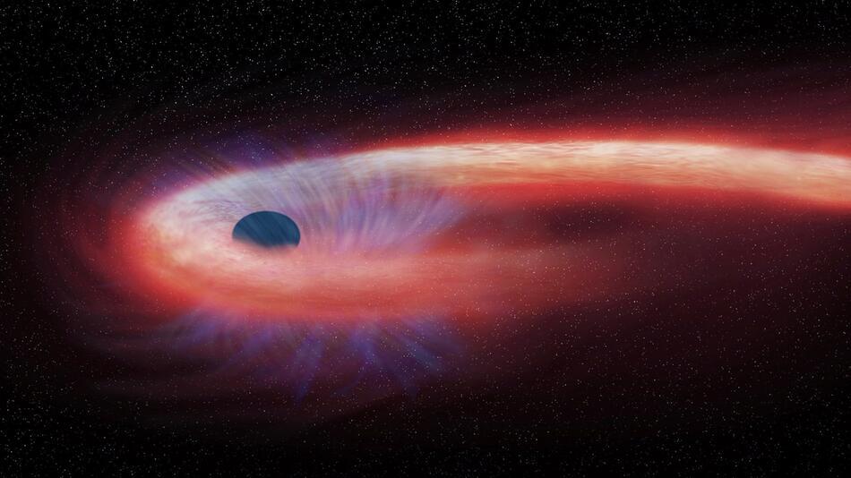 Schwarzes Loch - grafische Darstellung