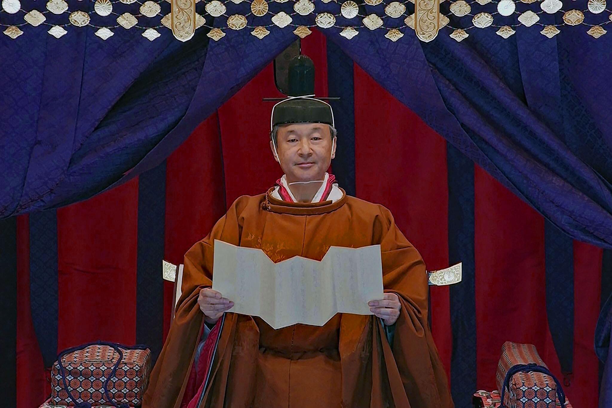 Japan: Kaiser Naruhito verkündet Inthronisierung