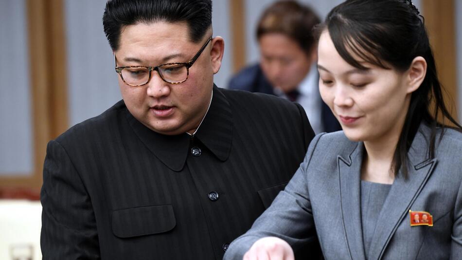 Kim Jong Un und Schwester Kim Yo Jong