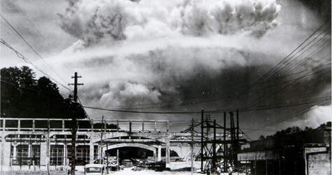 """Die Atombombe """"Fat Man"""" explodierte am 9. August 1945 im japanischen Nagasaki."""