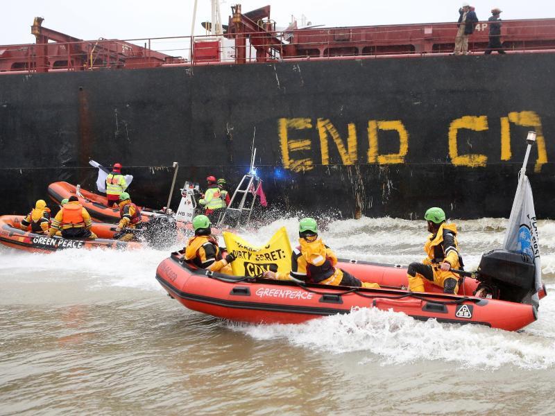 Bild zu Greenpeace-Aktion