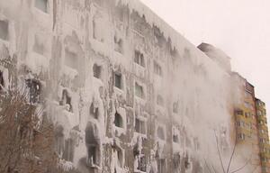 Russland, Haus, Eis, Eisschlossm Wasserleitungen, geplatzt