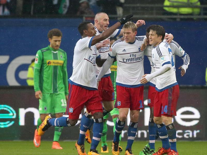 Bild zu Bundesliga, 21. Spieltag. Hamburger SV, Borussia Mönchengladbach
