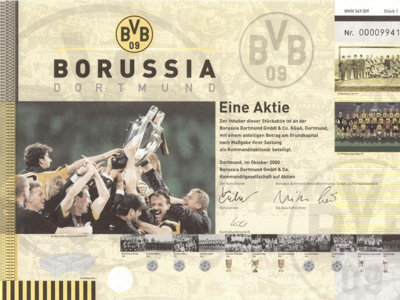 Bild zu Tafelpapier von Borussia Dortmund