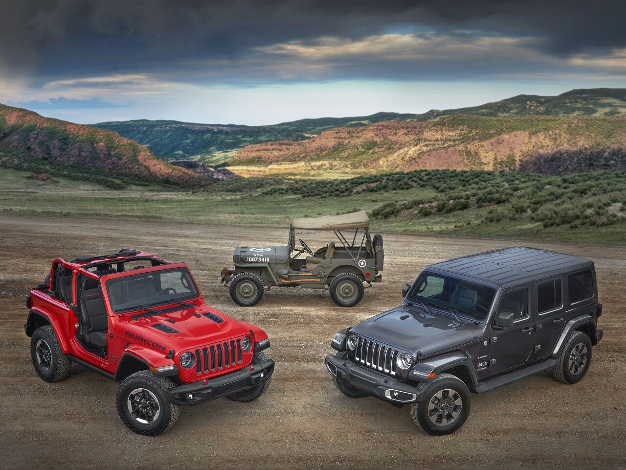 Bild zu Jeep Wrangler und Willys MB