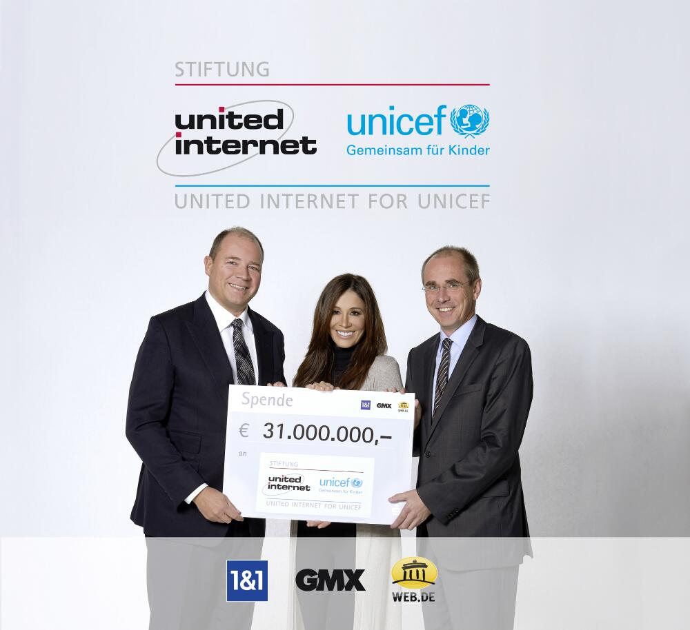 Bild zu Ralph Dommermuth, Tessa Page, Christian Schneider, United Internet for UNICEF