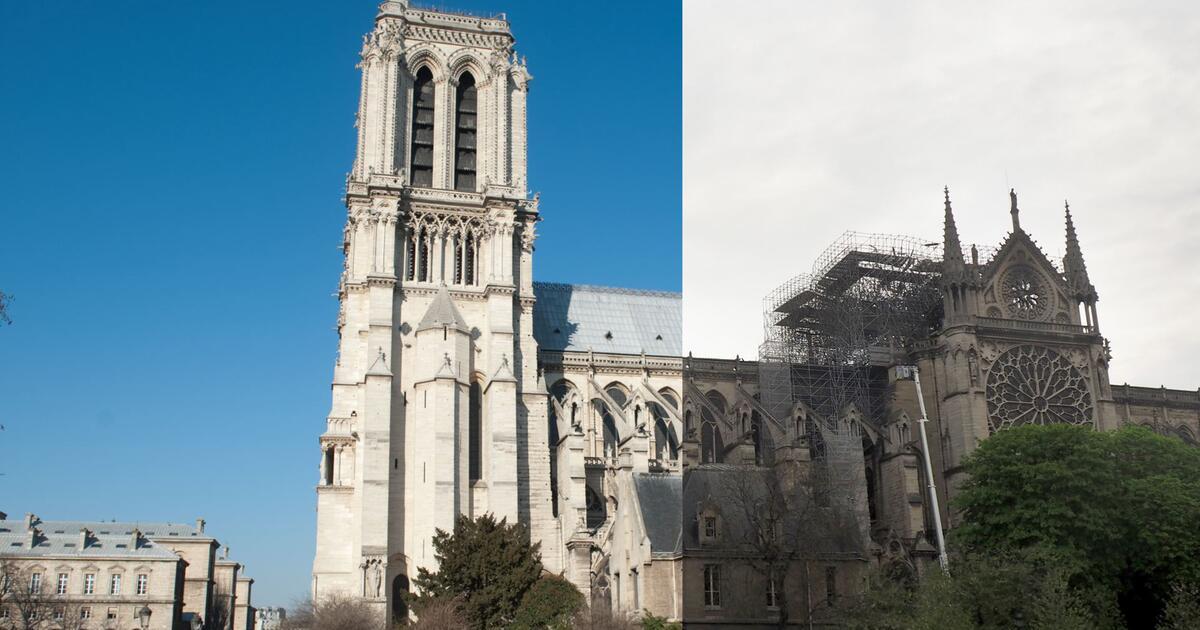 Notre Dame Vorher Nachher