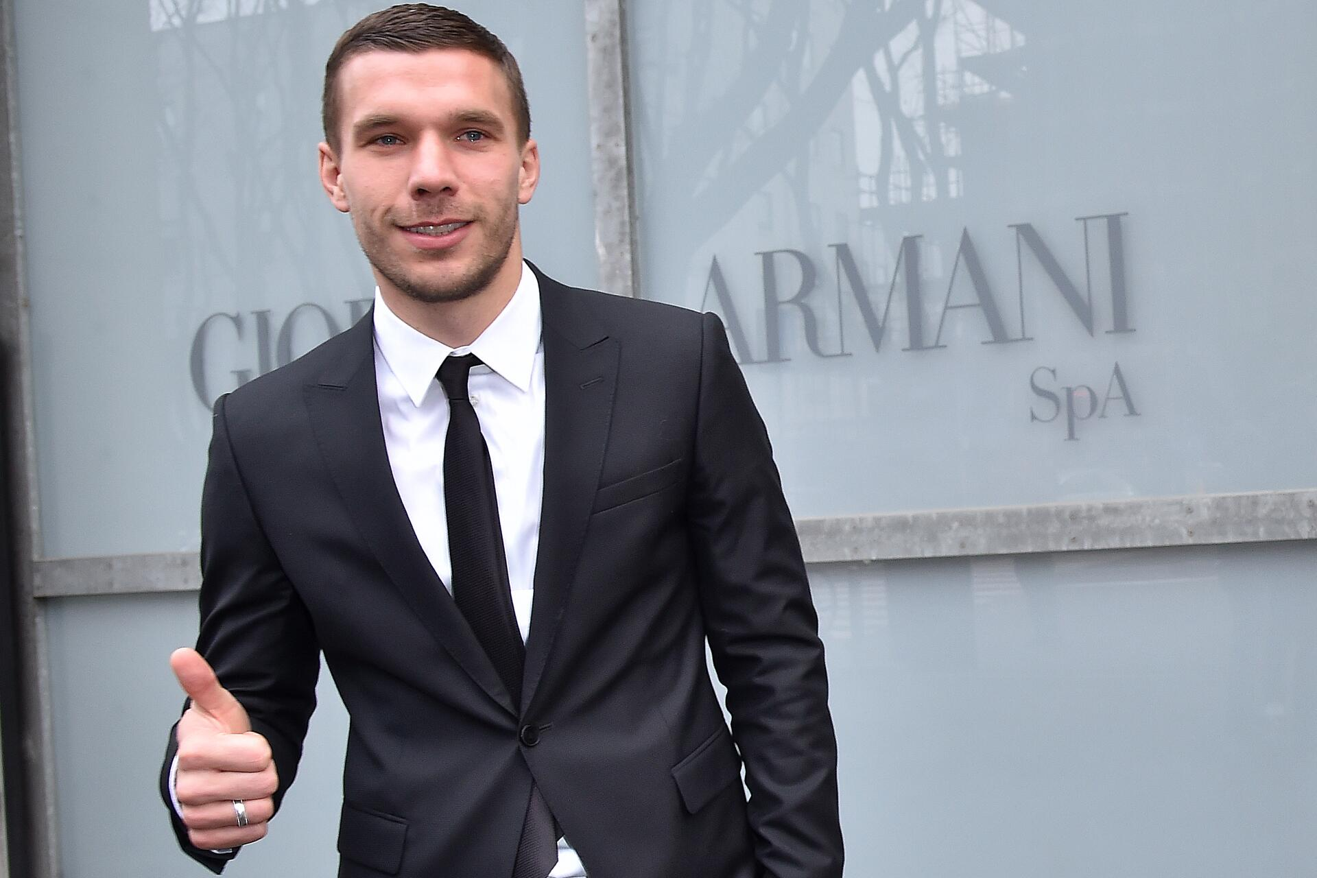 Bild zu Lukas Podolski, Mail, Danke, Mailand