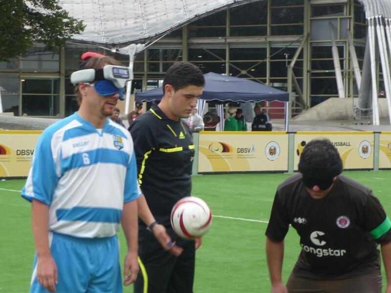 Bild zu Blindenfußball