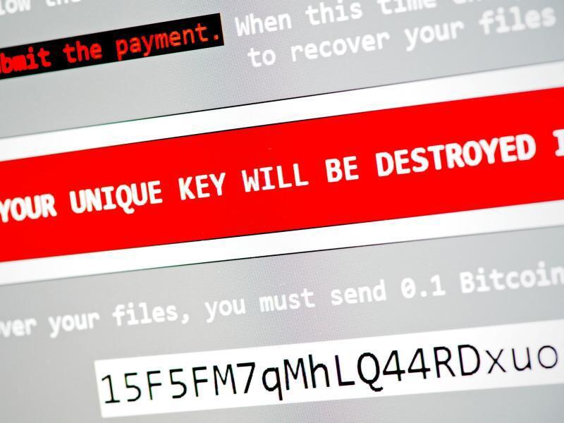 Bild zu Anzeige einer Ransomware