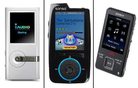 Bild zu iAudio, Sansa und Walkman