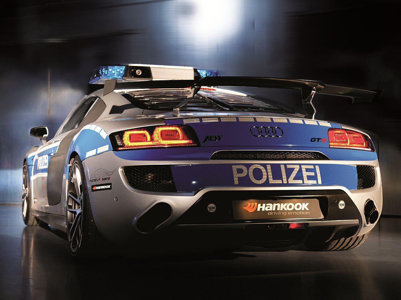 """Bild zu """"Tune It! Safe!""""-Kampagne: Der Audi R8 ABT GTR ist der Alptraum jedes Halunken"""