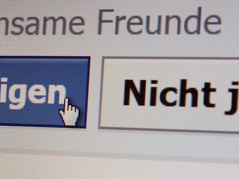 Bild zu Freundschaftsanfrage bei Facebook