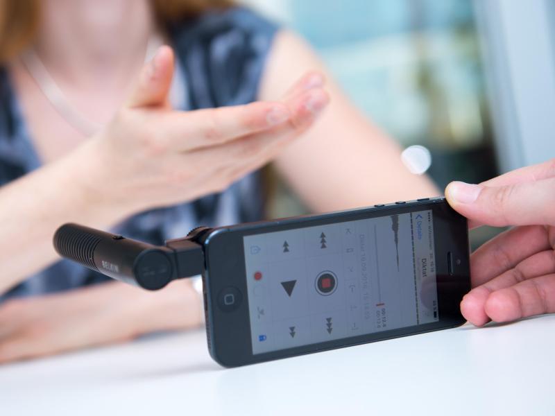 Bild zu App mit Audio-Aufnahme