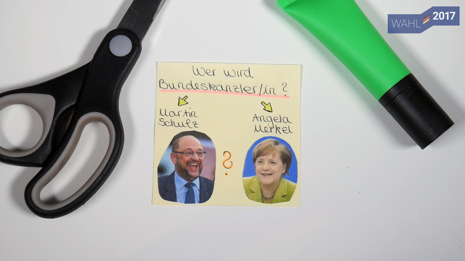 Bild zu Bundestagswahl, Angela Merkel, Martin schulz