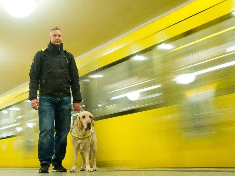 Bild zu U-Bahn-Fahren mit dem Blindenhund