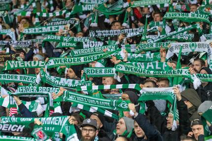 Fans vom SV Werder Bremen.