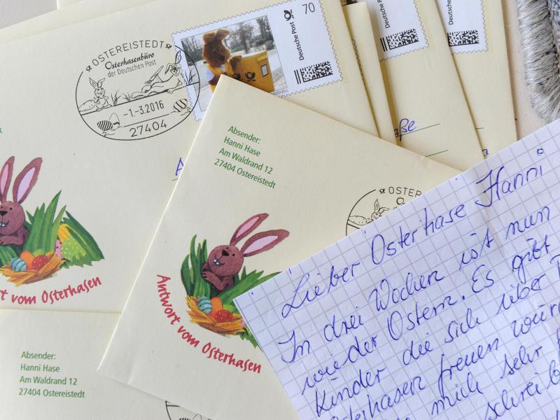 Tausende Briefe an Hanni Hase im Osterhasenbüro | WEB.DE