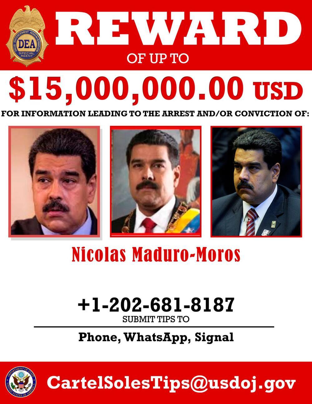 USA klagen Venezuelas Präsidenten Maduro wegen Drogenhandels an